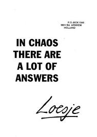 chaos loesje- inzicht door ervaring